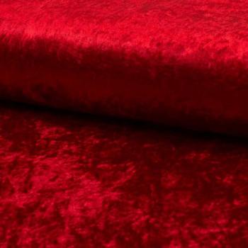 Tissu velours uni rouge 150 cm
