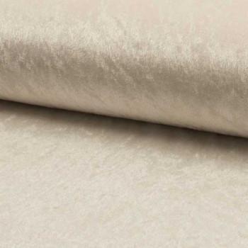 Tissu velours uni blanc 150 cm