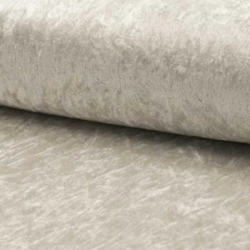 Tissu velours uni gris clair 150 cm