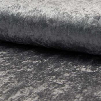 Tissu velours uni gris moyen 150 cm