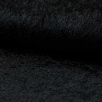 Tissu velours uni noir 150 cm