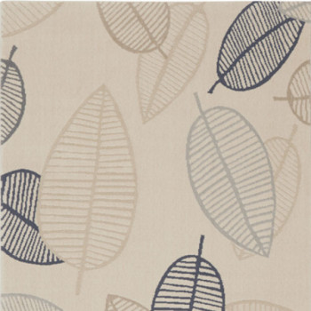 Tapis feuilles ambiance scandinave 160 x 230 cm
