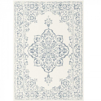 Tapis médaillon bleu jean 160 x 230 cm