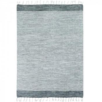 Tapis fines rayures gris et blanc 120 x 170 cm