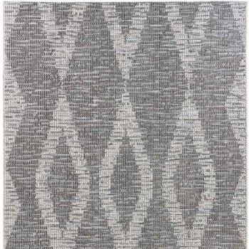 Tapis gris motif losange 120 x 170 cm