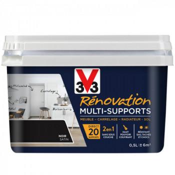 Peinture V33 rénovation multi-supports noir satin 0,5L