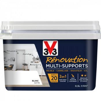 Peinture V33 rénovation multi-supports blanc satin 0,5L