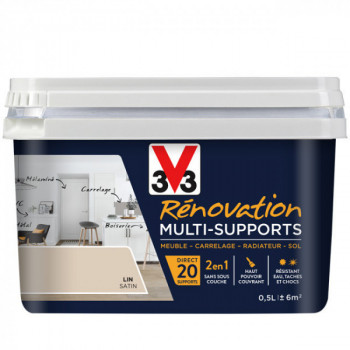 Peinture V33 rénovation multi-supports lin satin 0,5L