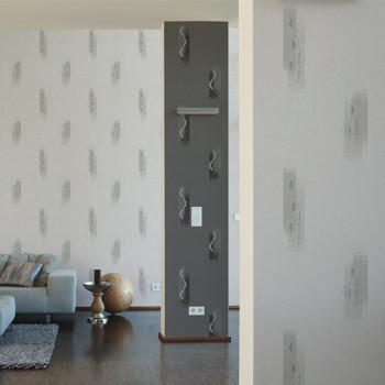 Papier peint intissé beige motif rectangle AS CREATION