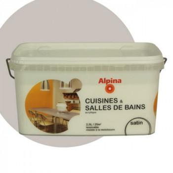 Peinture cuisine et salle de bain monocouche satin silex