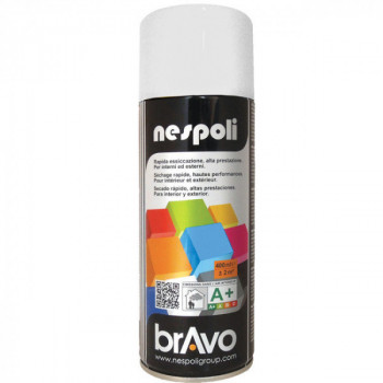 Peinture Bravo Spray aérosol multi-supports blanc neige mat 400 ML