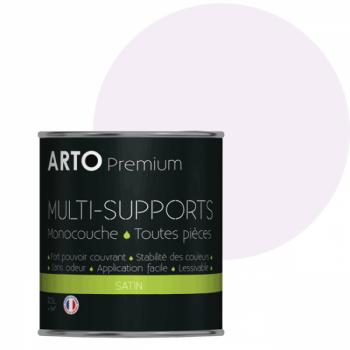 Peinture arto premium multi-supports murs, plafonds, boiseries, plinthes et radiateurs rose plaisir satin 0,5 L