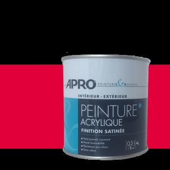 Peinture Apro multi-supports  Murs, plafonds, boiseries, plinthes… framboise satin 0,5 L