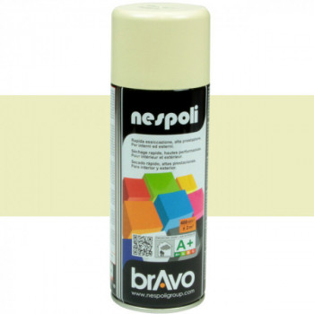 Peinture Bravo Spray aérosol multi-supports ivoire 400 ML