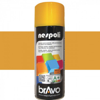 Peinture Bravo Spray aérosol multi-supports jaune signal 400 ML