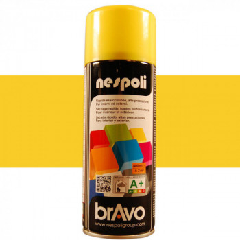 Peinture Bravo Spray aérosol multi-supports jaune soleil 400 ML