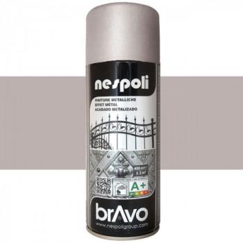 Peinture Nespoli Bravo Spray métallisé argenté 400 ML
