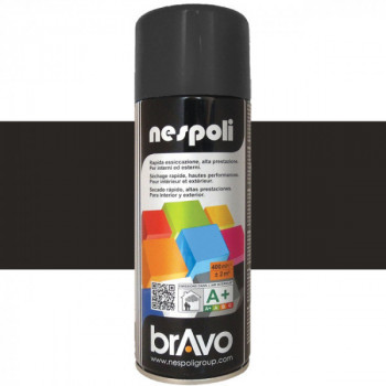 Peinture Bravo Spray aérosol multi-supports noir satin 400 ML