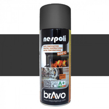 Peinture Bravo Spray aérosol haute température noir 400 ML