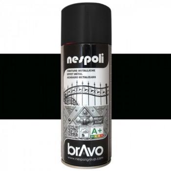 Peinture Bravo Spray aérosol noir metallique 400 ML