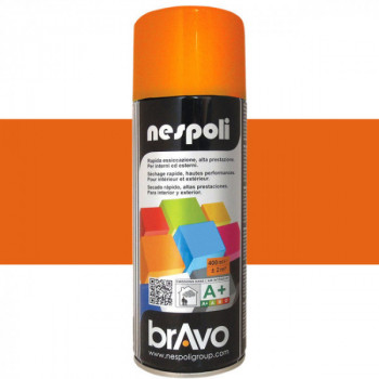 Peinture Bravo Spray aérosol multi-supports orange pastel 400 ML