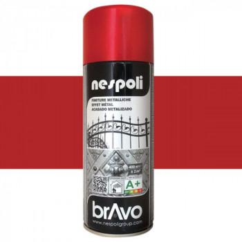 Peinture Bravo Spray aérosol rouge métallique 400 ML