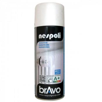 Peinture Bravo Spray aérosol radiateur blanc satin 400 ML