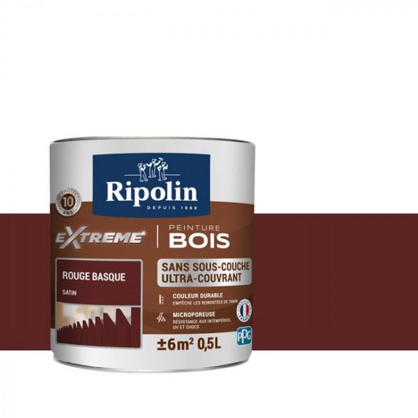 Peinture Ripolin extreme bois rouge...
