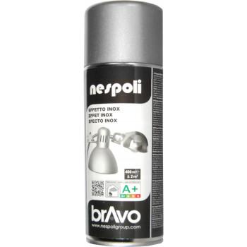 Peinture Bravo Spray aérosol multi-supports effet inox 400 ML