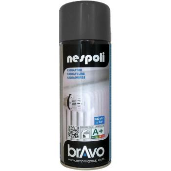 Peinture Bravo Spray aérosol radiateur gris satin 400 ML
