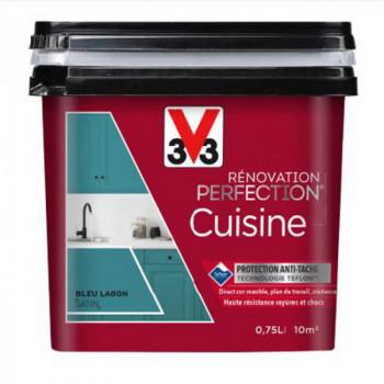 Peinture V33 rénovation cuisine rouge exquis satin 750 ML
