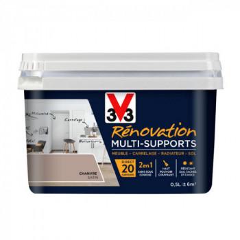 Peinture V33 rénovation multi-supports chanvre satin 0,5L