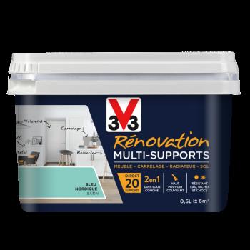 Peinture V33 rénovation multi-supports bleu nordique satin 0,5L
