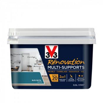 Peinture V33 rénovation multi-supports bleu batik satin 0,5L