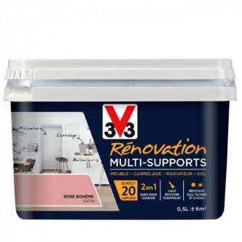 Peinture V33 rénovation multi-supports rose boheme satin 0,5L
