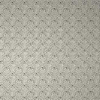 Papier peint intissé motif géométrique noir et gris