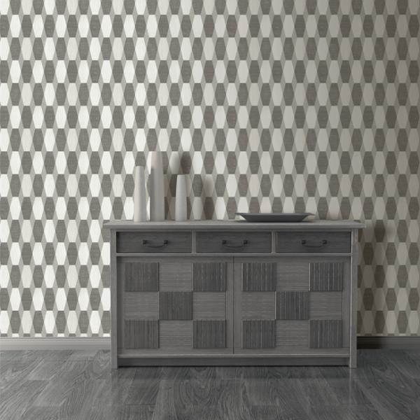 Papier peint intissé nuance de gris