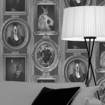 """Papier-peint intissé lessivable """"Royal Portraits"""""""