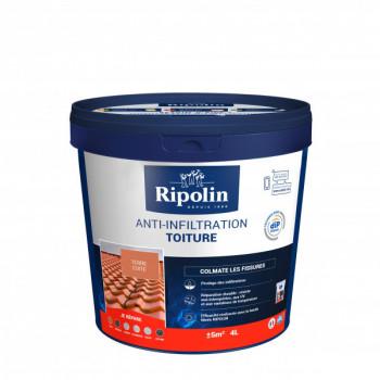 Peinture Ripolin anti-infiltration toiture dip etanch terre cuite 4 L