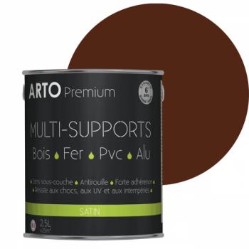 Peinture Arto Premium multi-supports ton bois satin 2,5L