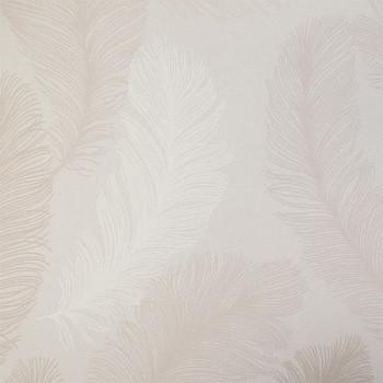 Papier peint intissé lessivable motifs plumes beige