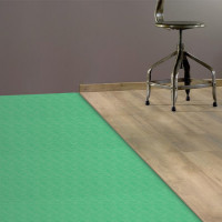 Sous-couche et outil d'aide à la pose de dalle et lame pvc