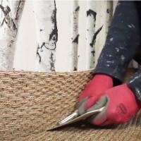 Sous-couche et outil d'aide à la pose de jonc de mer, sisal et tissée plat