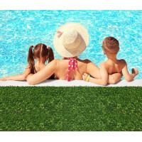 Gazon synthétique pour jardin et piscine