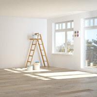 Peinture blanche mur, plafond et boiserie